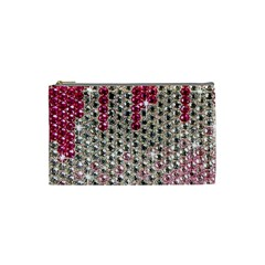 Mauve Gradient Rhinestones  Small Makeup Purse by artattack4all