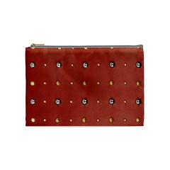 Studded Faux Leather Red Medium Makeup Purse by artattack4all