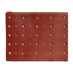 Studded Faux Leather Red Extra Large Makeup Purse by artattack4all