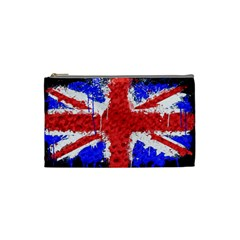 Distressed British Flag Bling Small Makeup Purse by artattack4all