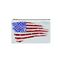 Sparkling American Flag Small Makeup Purse by artattack4all