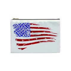 Sparkling American Flag Medium Makeup Purse by artattack4all