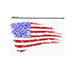 Sparkling American Flag Large Makeup Purse by artattack4all