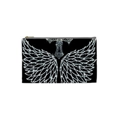 Bling Wings And Cross Small Makeup Purse by artattack4all