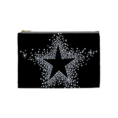Sparkling Bling Star Cluster Medium Makeup Purse by artattack4all