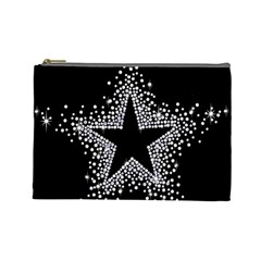 Sparkling Bling Star Cluster Large Makeup Purse by artattack4all