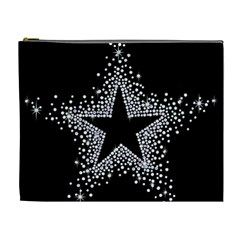 Sparkling Bling Star Cluster Extra Large Makeup Purse by artattack4all