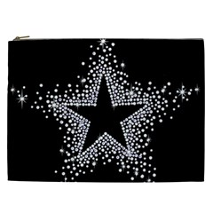 Sparkling Bling Star Cluster Cosmetic Bag (xxl) by artattack4all