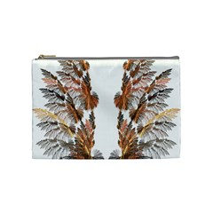 Brown Feather Wing Medium Makeup Purse by artattack4all