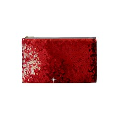 Sequin And Glitter Red Bling Small Makeup Purse by artattack4all