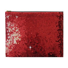 Sequin And Glitter Red Bling Extra Large Makeup Purse by artattack4all