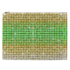 Diamond Cluster Color Bling Cosmetic Bag (xxl) by artattack4all