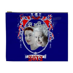 Queen Elizabeth 2012 Jubilee Year Extra Large Makeup Purse by artattack4all