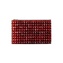 Deep Red Sparkle Bling Small Makeup Purse by artattack4all