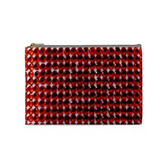 Deep Red Sparkle Bling Medium Makeup Purse by artattack4all