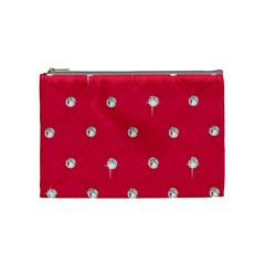 Red Diamond Bling  Medium Makeup Purse by artattack4all