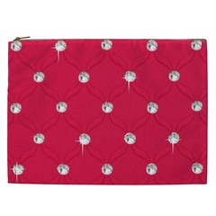 Red Diamond Bling  Cosmetic Bag (xxl) by artattack4all