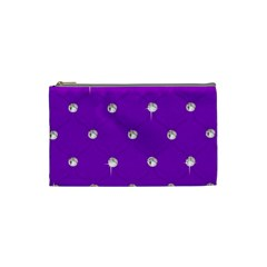 Royal Purple Sparkle Bling Small Makeup Purse by artattack4all