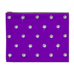Royal Purple Sparkle Bling Extra Large Makeup Purse by artattack4all