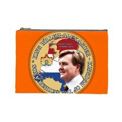King Willem Alexander Large Makeup Purse by artattack4all