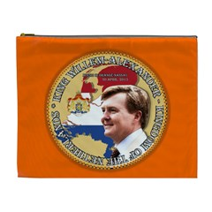 King Willem Alexander Extra Large Makeup Purse by artattack4all