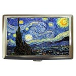 Starry Night By Vincent Van Gogh 1889 Cigarette Money Case