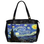 Starry Night By Vincent Van Gogh 1889 Oversize Office Handbag (Two Sides)