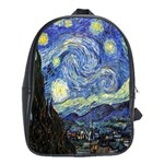 Starry Night By Vincent Van Gogh 1889 School Bag (XL)
