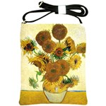 Vase With Fifteen Sunflowers By Vincent Van Gogh 1888 Shoulder Sling Bag