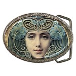 Facher Auf Goldenem Grund By Louis Welden Hawkins 1905 Belt Buckle