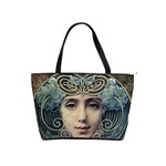 Facher Auf Goldenem Grund By Louis Welden Hawkins 1905 Classic Shoulder Handbag