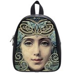 Facher Auf Goldenem Grund By Louis Welden Hawkins 1905 School Bag (Small)