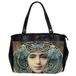 Facher Auf Goldenem Grund By Louis Welden Hawkins 1905 Oversize Office Handbag (Two Sides)