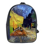 Cafe Terrace At Night By Vincent Van Gogh 1888  School Bag (XL)