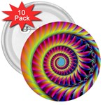Fractal34 3  Button (10 pack)