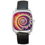 Fractal34 Square Metal Watch