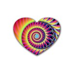 Fractal34 Heart Coaster (4 pack)