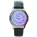 Fractal34 Round Metal Watch