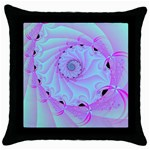 Fractal34 Throw Pillow Case (Black)