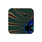 Fractal34 Rubber Square Coaster (4 pack)