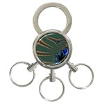 Fractal34 3-Ring Key Chain