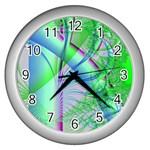 Fractal34 Wall Clock (Silver)