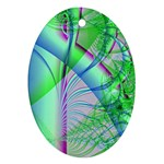 Fractal34 Oval Ornament (Two Sides)