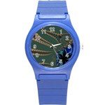 Fractal34 Round Plastic Sport Watch Small