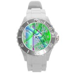 Fractal34 Round Plastic Sport Watch Large