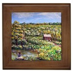 Tenant House in Summer by Ave Hurley - Framed Tile