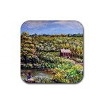 Tenant House in Summer by Ave Hurley - Rubber Coaster (Square)