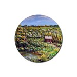 Tenant House in Summer by Ave Hurley - Rubber Round Coaster (4 pack)