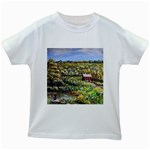 Tenant House in Summer by Ave Hurley - Kids White T-Shirt