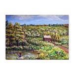 Tenant House in Summer by Ave Hurley - Sticker (A4)